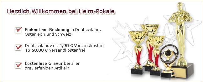 Herzlich Willkommen bei Helm Pokale Ihrem Pokale Händler im Internet!