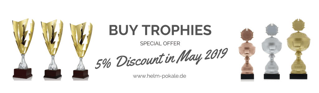 buy Trophies - special offer May 2019 at www.helm-pokale.de