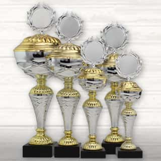 Pokale & Preise Fußball Pokal 20 x Medaillen 50mm mit Deutschland-Bändern Turnier Emblem Pokale